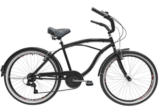 Bicicleta Amazonas Praiana Retro Masculina 6v. Aro 26 Aero