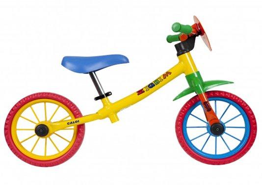 Bicicleta Caloi Zigbim Balance Aro 12